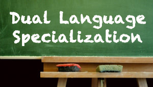 Dual Language Specialization