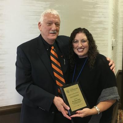 gene eakin receiving award